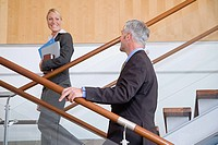 Colleagues on stairs