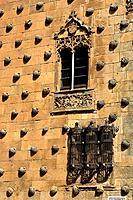Casa de las Conchas (House of the Shells, 15th century), Salamanca. Castilla-Leon, Spain