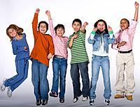Multi_ethnic children cheering