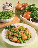 Cuisine: Stewed Chicken with Broad Beans