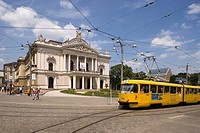 Czech Republic - Southern Moravia - Brno. Mahen National Theater. Architects Ferdinand Fellner and Hermann Helmer, 1881-82
