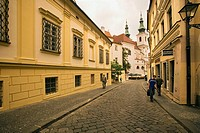 Czech Republic - Southern Moravia - Brno. Historic city centre, street