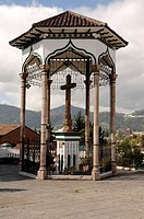 Ecuador - Azuay Province - Cuenca. Votive cross Cruz del Vado to guide travellers across Tomebamba River