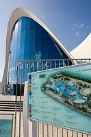 Spain - Valencia. City of Arts and Science (Ciudad de las Artes y las Ciencias). Marine center 'L'Oceanografic-Underwater City'. Designer architect Fe...