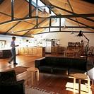 Open plan modern loft style living space