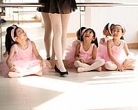 Young Ballerinas in Class