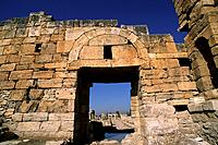 turkey, hierapolis, byzantine gate