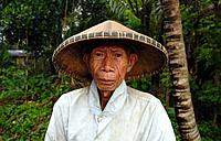 asia, indonesia, bali island, ubud, elderly man