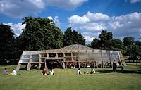 SERPENTINE PAVILLION 2005, THE SERPENTINE GALLERY, LONDON, W8 KENSINGTON, UK, ALVARO SIZA & EDUARDO SOUTO DE MOURA WITH CECIL BALMOND _ ARUP, EXTERIOR...
