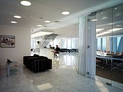 CITY POINT_MACQUARIE BANK, ROPEMAKER ST, LONDON, EC2 MOORGATE, UK, DEGW PLC, INTERIOR, BOARDROOM FROM OUTSIDE
