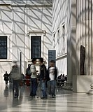 BRITISH MUSEUM GREAT COURT, GREAT RUSSEL STREET, LONDON, WC1 BLOOMSBURY, UK, FOSTER & PARTNERS, INTERIOR, VIEW TO CAFE