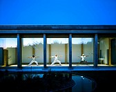 SOPHIE LEEK'S YOGA STUDIO, CAMBRIDGESHIRE, UK, FREELAND REES ROBERTS ARCHITECTS, EXTERIOR, DUSK VIEW