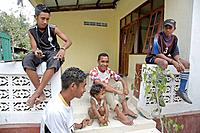 Adolescent boys of Aileu. East Timor