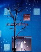 LOUIS VUITTON GINZA, GINZA, TOKYO, JAPAN, JUN AOKI, EXTERIOR, DETAIL AT NIGHT