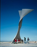 ROTATING WIND SHELTER, SOUTH BEACH, BLACKPOOL, LANCASHIRE, UK, MCCHESNEY ARCHITECTS, EXTERIOR, IN USE