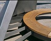 ROTATING WIND SHELTER, SOUTH BEACH, BLACKPOOL, LANCASHIRE, UK, MCCHESNEY ARCHITECTS, EXTERIOR, SEAT DETAIL