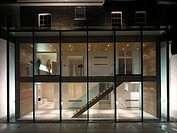 PRIVATE HOUSE EXTENSION, LONDON, UK, SIMON CONDER ASSOCIATES, EXTERIOR, OVERALL NIGHTIME SHOT