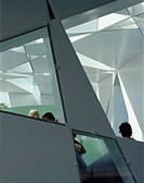 SERPENTINE GALLERY PAVILION, KENSINGTON GARDENS, LONDON, W2 PADDINGTON, UK, TOYO ITO & ASSOCIATES, EXTERIOR, DETAIL WITH PEOPLE