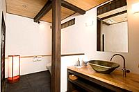 Japan, home interior, bathroom, pottery sink