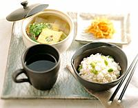 Korean food _ rice and soup