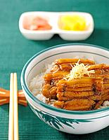 Japanese food _ rice with steak