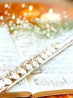 Music book and flute