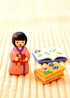Paper clay toy, girl