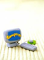 Paper clay toy, computer (thumbnail)