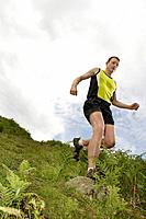 Man jogging in countryside