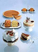 Variety of desserts