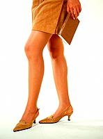 Businesswoman with skirt