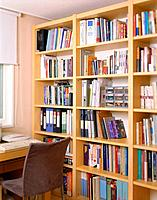 Study room with bookshelf