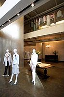 Interior view of clothing shop