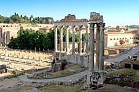 Temple of Vespasian, Rome, Italy (thumbnail)