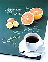 Orange and coffee
