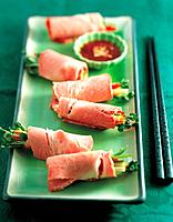Ham vegetables wrapping