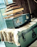 Luggage and books