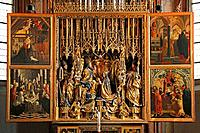 Late gothic flapper-altar 1471 - 1481 from Michael Pacher, in the church of Sankt Wolfgang in the region Salzkammergut, Austria