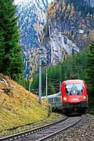 North-ramp of the Tauern railway in Austria