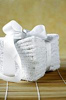 Stack of clean white towels