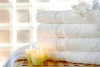Candles and fresh towels
