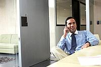 Businessman using the telephone