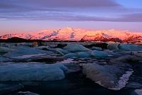 Glacial landscape, Jokulsarlon, Iceland,