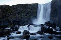 Waterfall, Iceland,