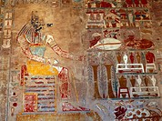 Luxor Egypt Deir Al_bahri Hatshepsut Anubis Chapel _ Anubis One Of The God´s Of The Dead _ Man With Jackal´s Mask