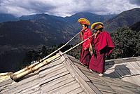 Mani rimdu festival  Jiwong monastery  Solu khumbu  Nepal