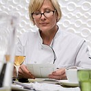 Woman Reviewing Expenses