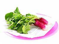 Red Radishes on a plate