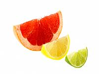 Single slices of Lemon Lime and Blood Orange