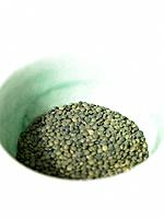 Raw Foods, Green Lentils